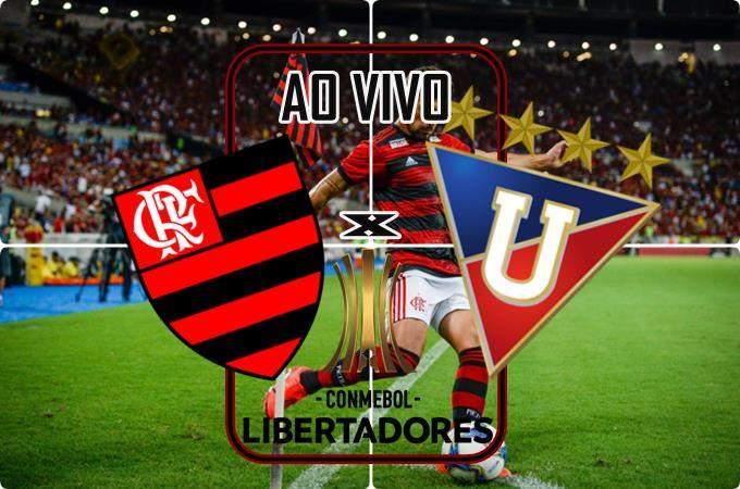 Onde assistir o Jogo Flamengo e LDU ao vivo online pela Libertadores. Foto/Montagem