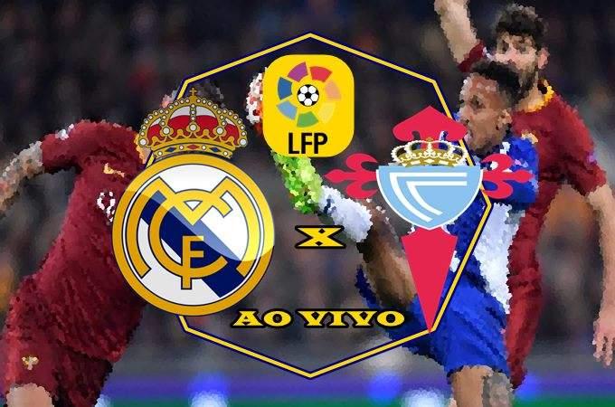 Jogo Real Madrid vs Celta de Vigo ao vivo online. foto/Montagem