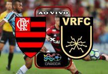 Jogo do Flamengo ao vivo x Volta Redonda ao vivo. Foto/Montagem