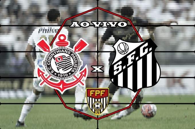 Onde vai passar o jogo Santos x Corinthians AO VIVO online. Foto/Montagem