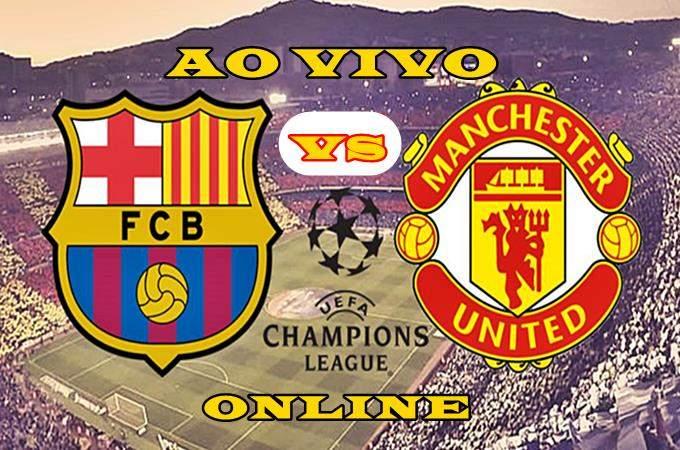 Veja onde assistir grátis Barcelona x Manchester United ao vivo online. foto/Montagem