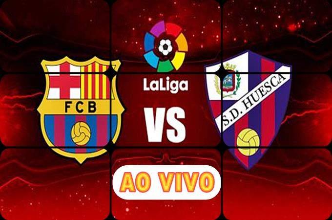 Onde assistir Huesca x Barcelona ao vivo online. Foto/Montagem