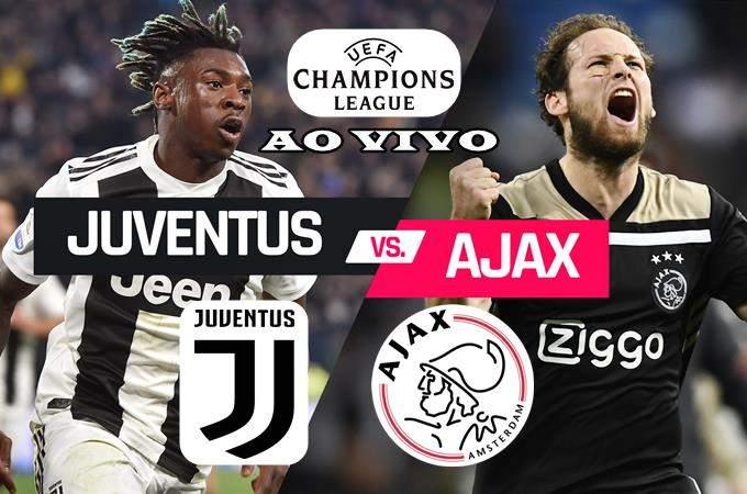 Onde assistir o jogo Juventus e Ajax ao vivo. Foto/Montagem