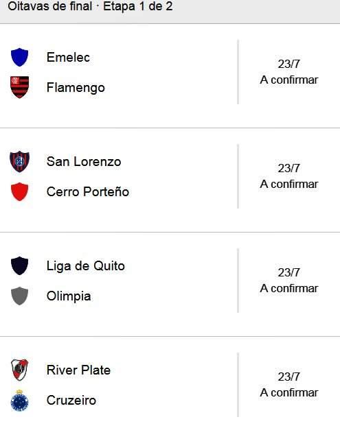 Oitavas de final da Libertadores . Foto/Captura/Google