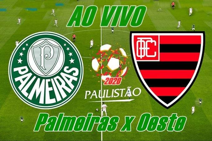 Como assistir ao jogo Palmeiras x Oeste ao vivo pela internet. Foto/Divulgação.