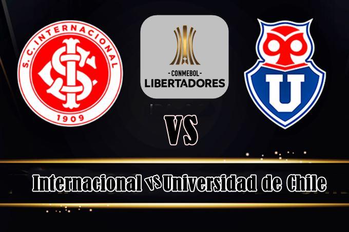 Jogo do Inter na Libertadores: Internacional x Universidad de Chile ao vivo online. Foto: Montagem
