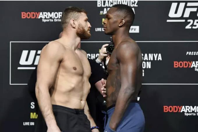 UFC 259 Israel Adesanya vs Jan Blachowicz. Foto - Divulgação