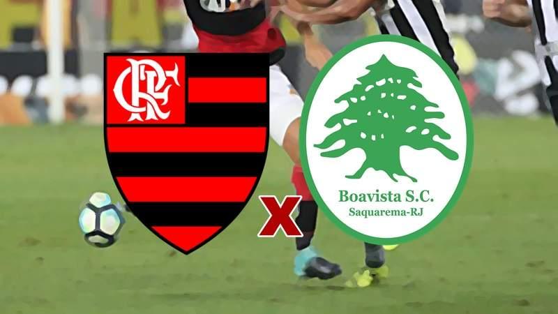 Assistir Flamengo e Boavista ao vivo. Foto/Montagem