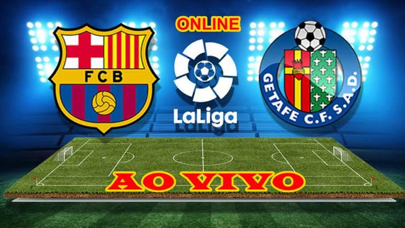 Jogo do Barcelona x Getafe ao vivo. Foto/Montagem