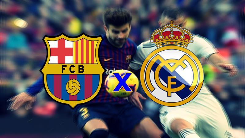 Veja onde vai passar Barcelona x Real Madrid Copa do Rei hoje. Foto/Montagem