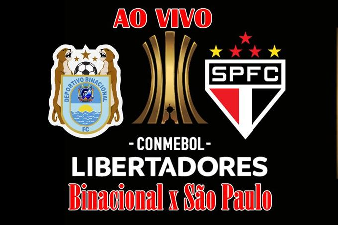 Jogo Binacional x São Paulo ao vivo pela Libertadores. Foto/Divulgação