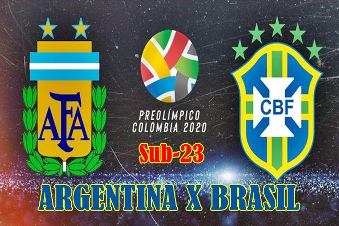 Seleção do Brasil x Argentina Sub-23 ao vivo online. Foto/Divulgação
