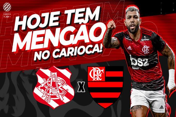 Volta do Campeonato Carioca jogo Bangu x Flamengo ao vivo. Foto - Flamengo