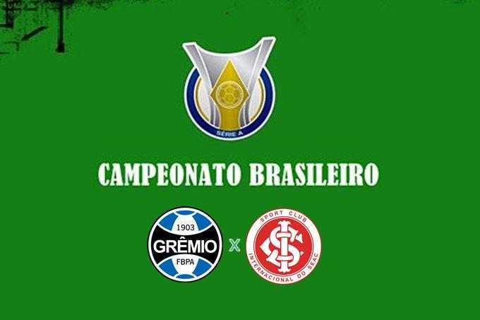 Grêmio x Inter ao vivo: confira onde assistir online e na TV ao clássico do Campeonato Brasileiro neste sábado, às 17 horas.