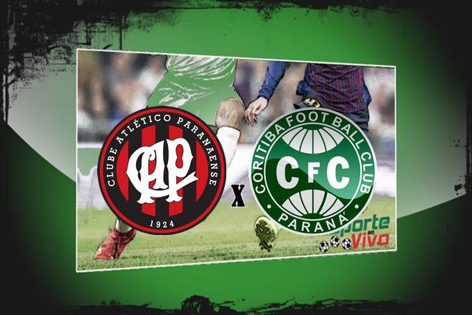 Futebol ao vivo Coritiba x Athletico final Campeonato Paranaense. Imagem - Montagem