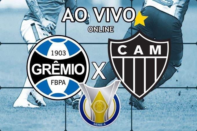Assistir Grêmio x Atlético Mineiro ao vivo pela internet. Foto/Montagem