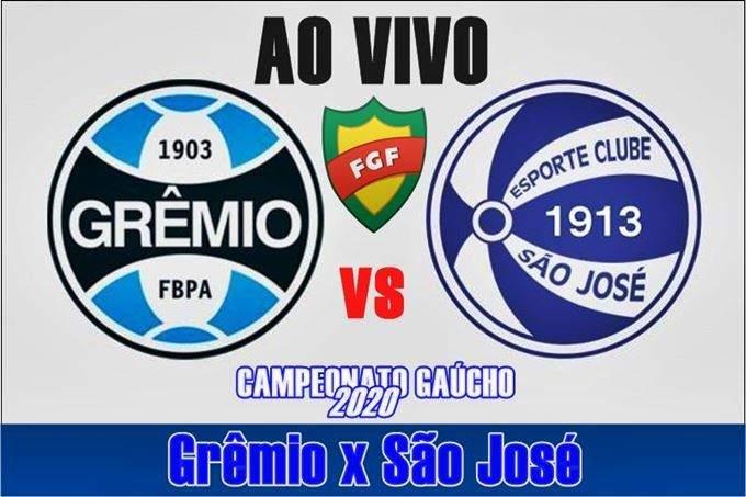Jogo Grêmio x São-José-RS ao vivo online pelo Campeonato Gaúcho. Foto: divulgação