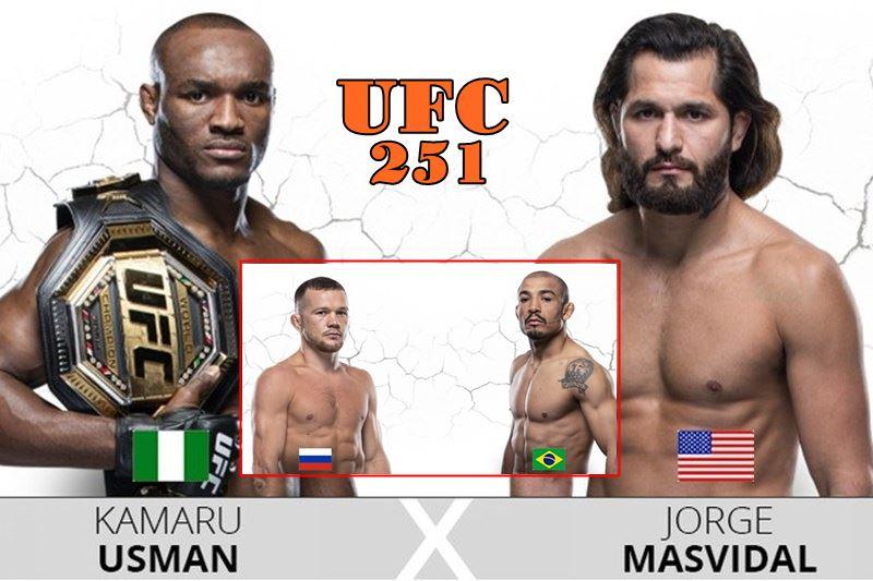 Lutas do UFC 251 Ilha da Luta em Abu Dhabi. Foto - Montagem