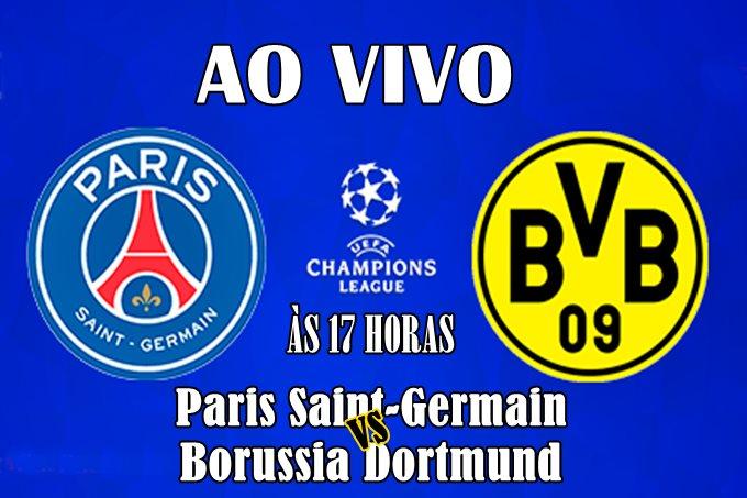 Onde assistir ao jogo do PSG vs Borussia Dortmund ao vivo. Foto/Ilustração