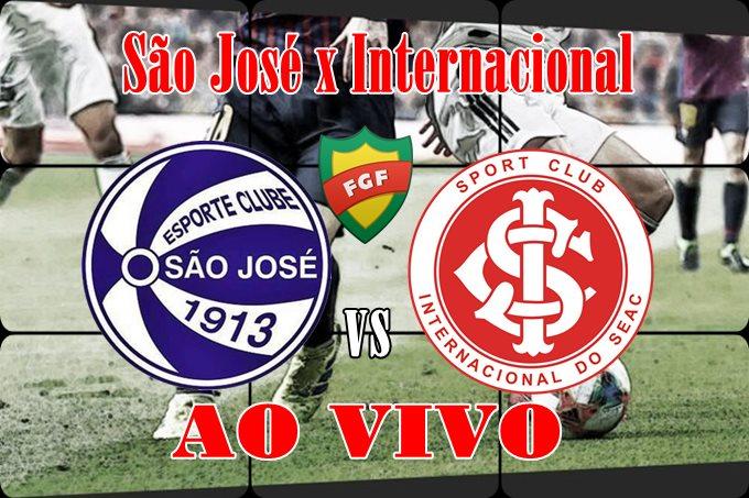 Jogo do Inter ao vivo: Onde assistir São José x Internacional ao vivo online. Foto/Ilustração