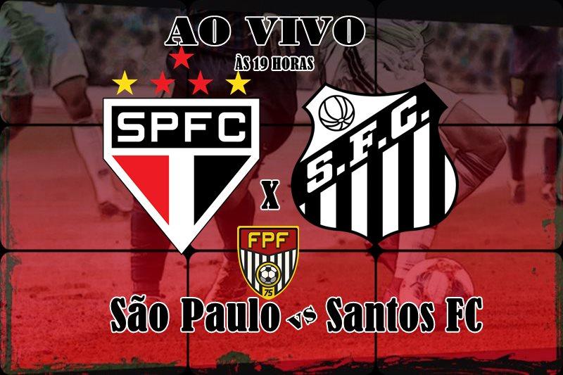 Assista São Paulo e Santos ao vivo: os times se enfrentam às 19h00, neste sábado (14), pelo Campeonato Paulista 2020. Foto/Ilustração