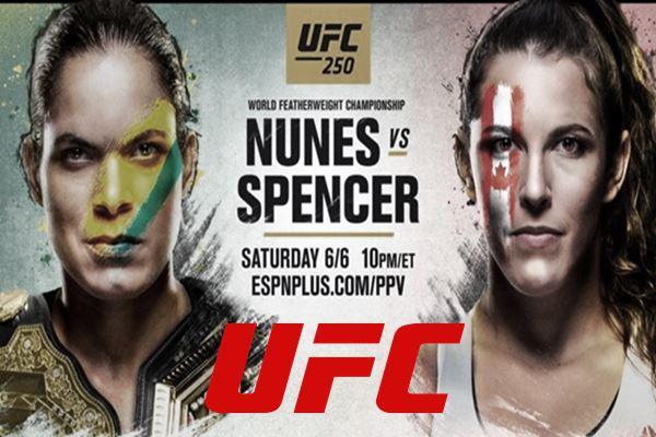 UFC ao vivo Las Vegas neste sábado luta Amanda Nunes vs Felicia Spencer. Foto - Ilustração